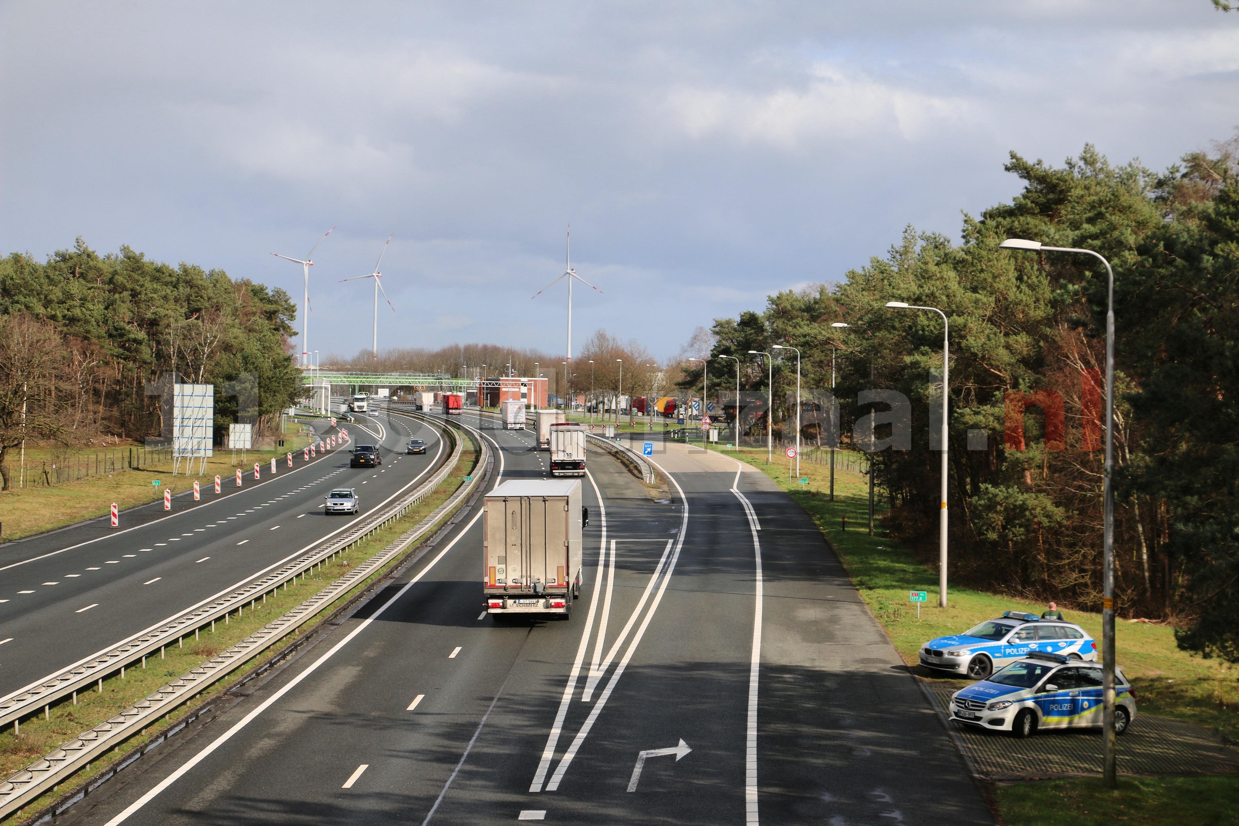 Extra controle bij grensovergang met Duitsland