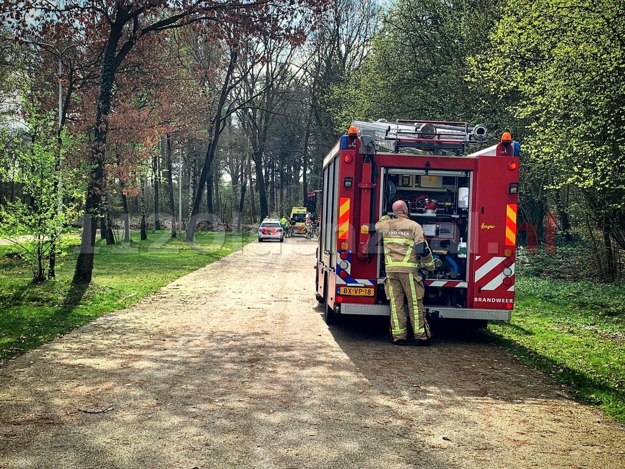 Video: Hulpdiensten rukken uit voor gewonde op Hulsbeek Oldenzaal