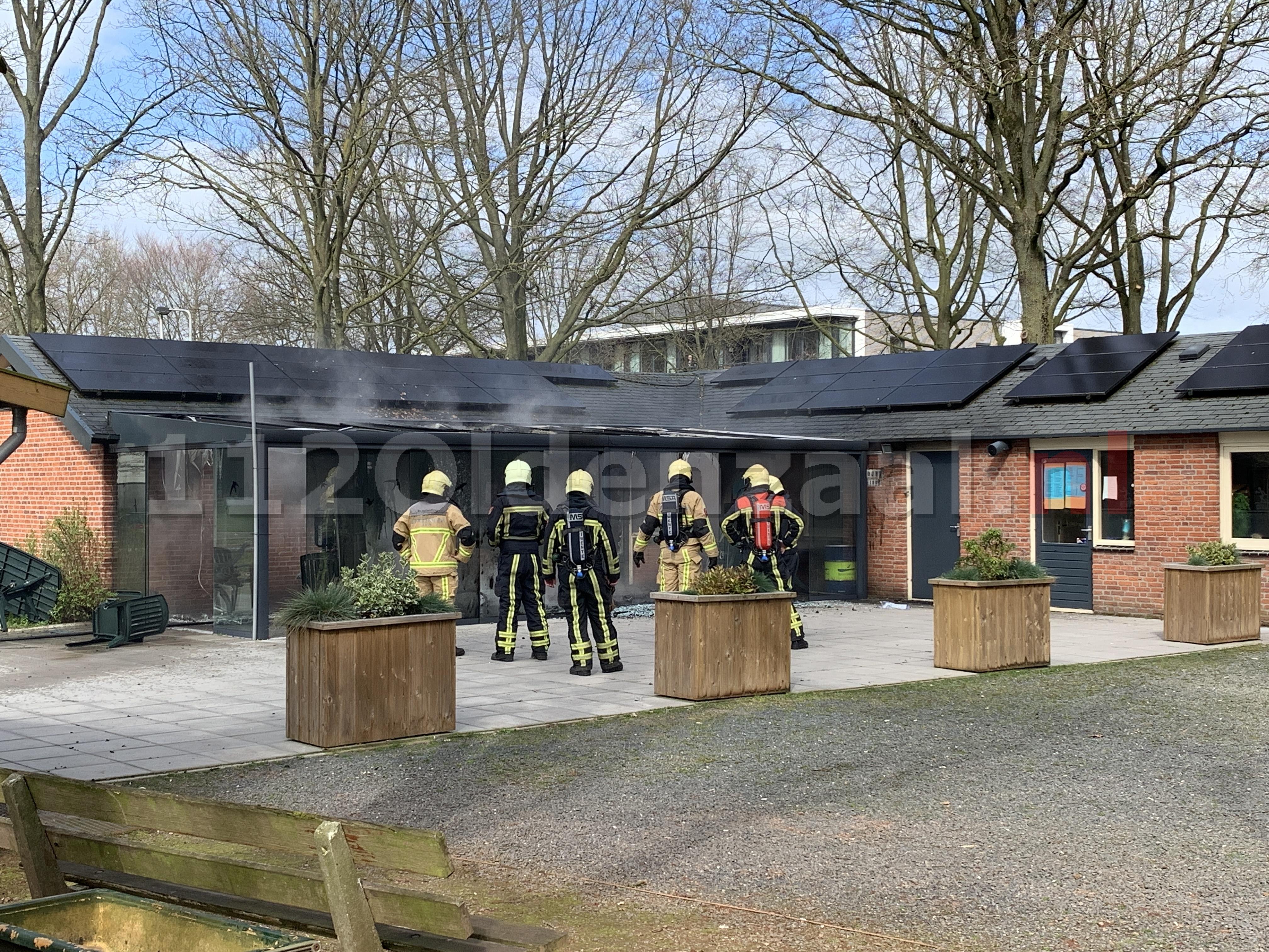 UPDATE: Grote rookontwikkeling bij brand clubgebouw Vondellaan Oldenzaal