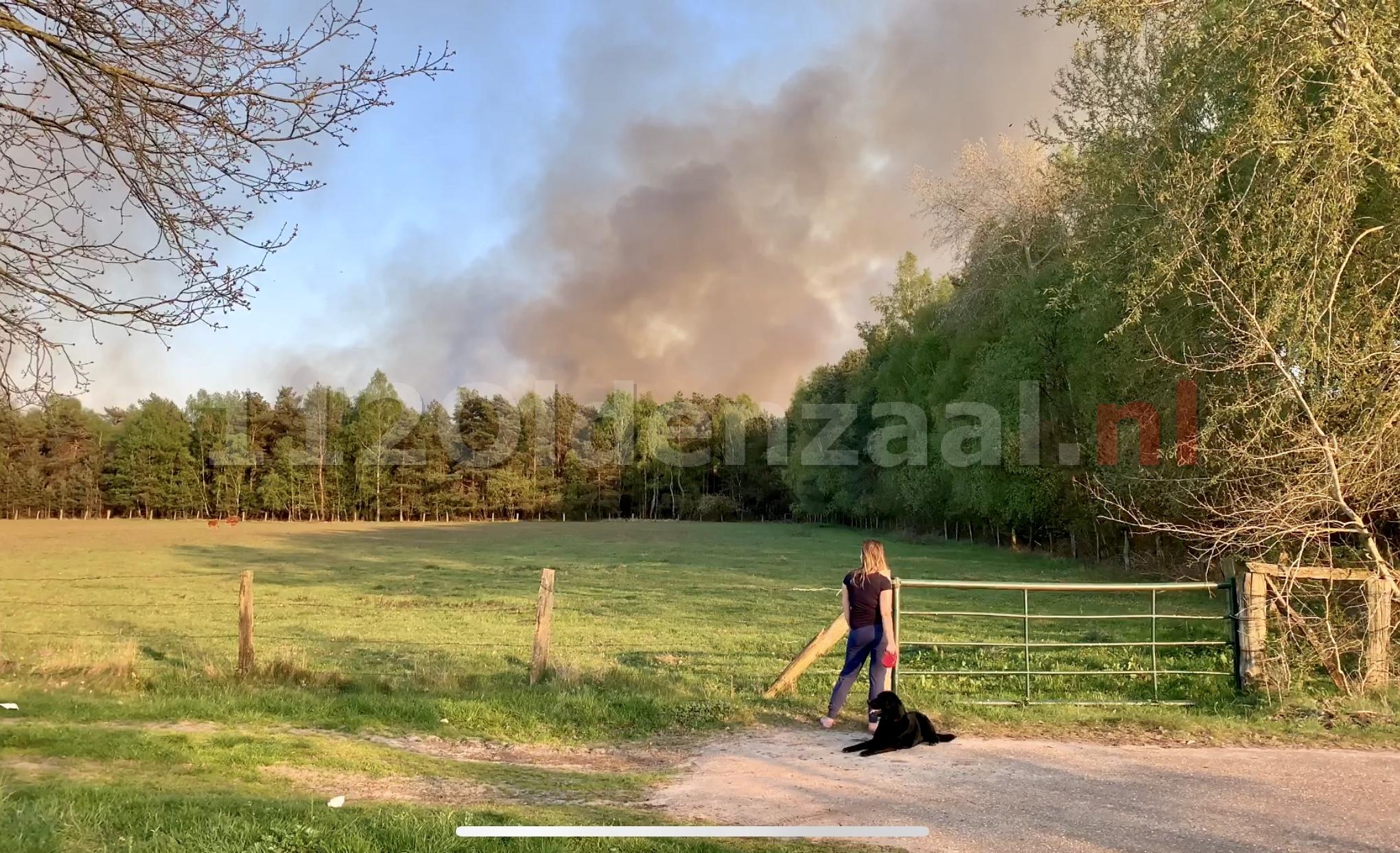 Grote rookontwikkeling bij grote veenbrand net over de grens in Duitsland
