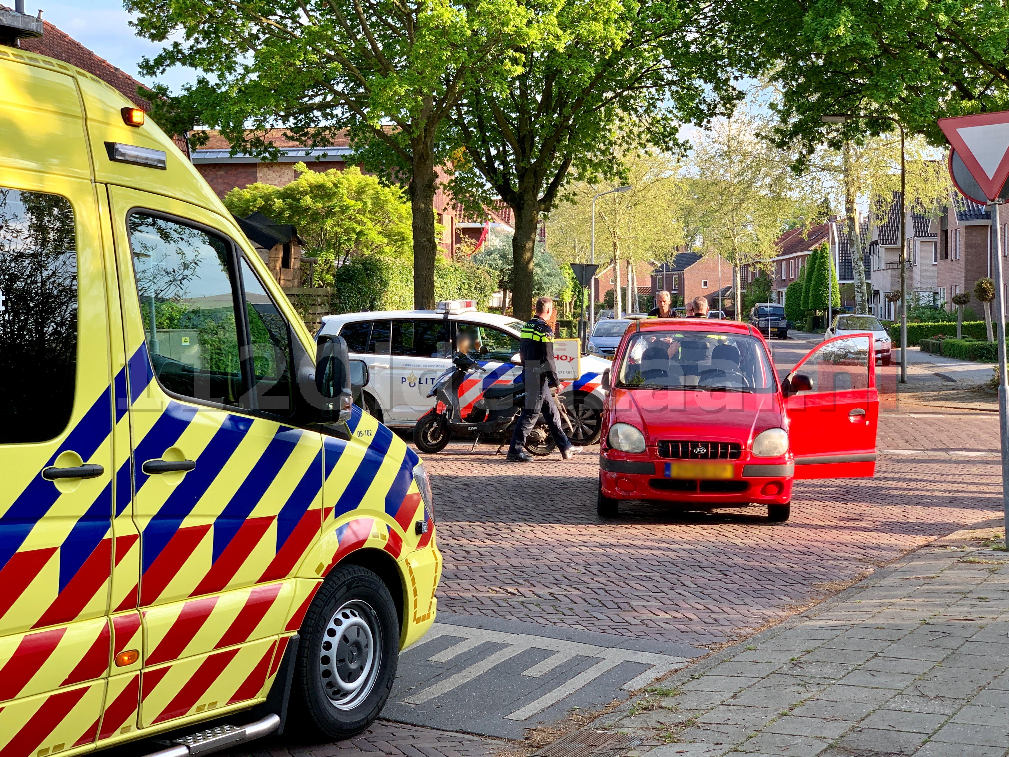 Maaltijdbezorger gewond na aanrijding in Oldenzaal