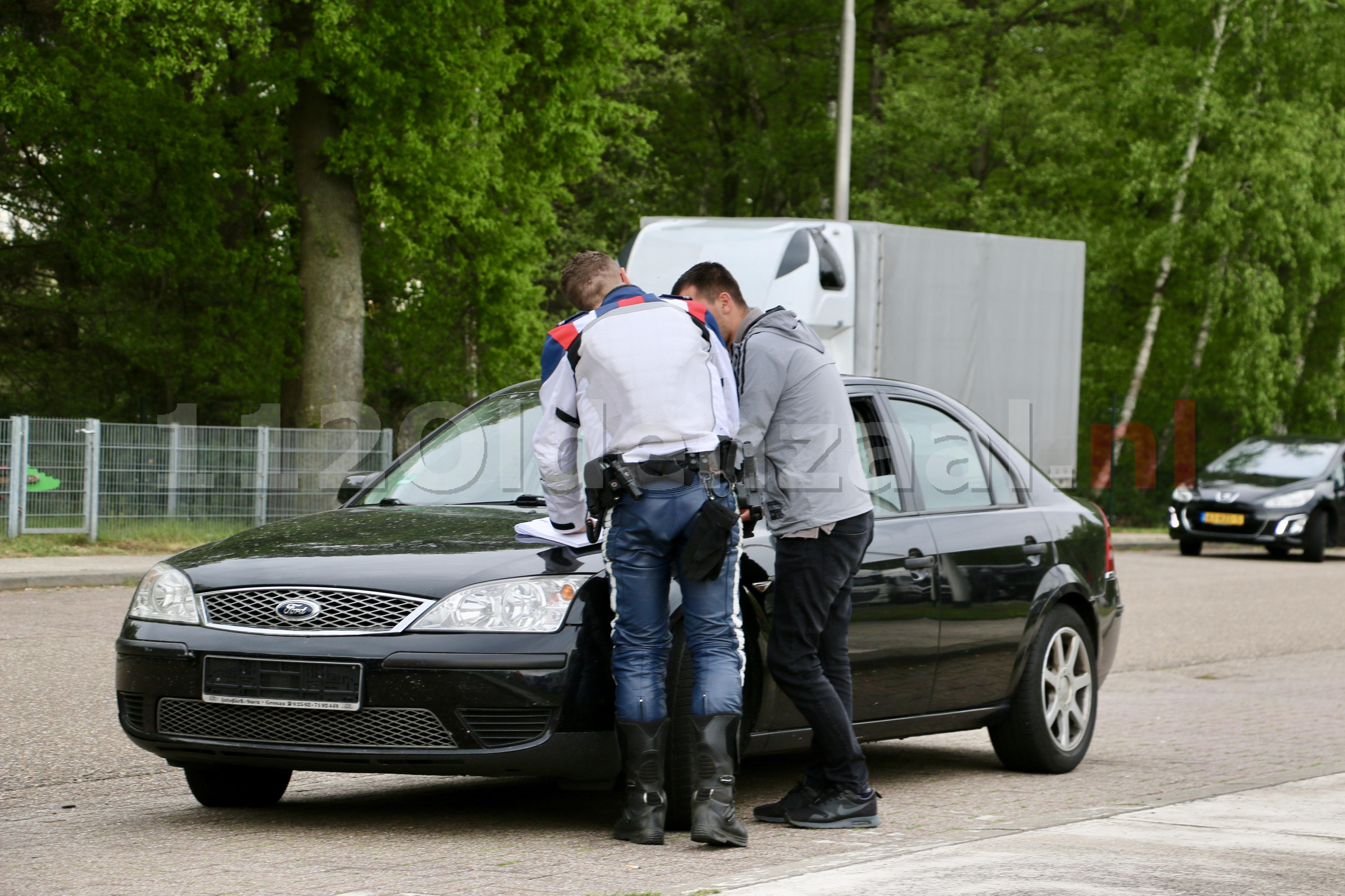 (Foto's): Controle op A1 bij Oldenzaal