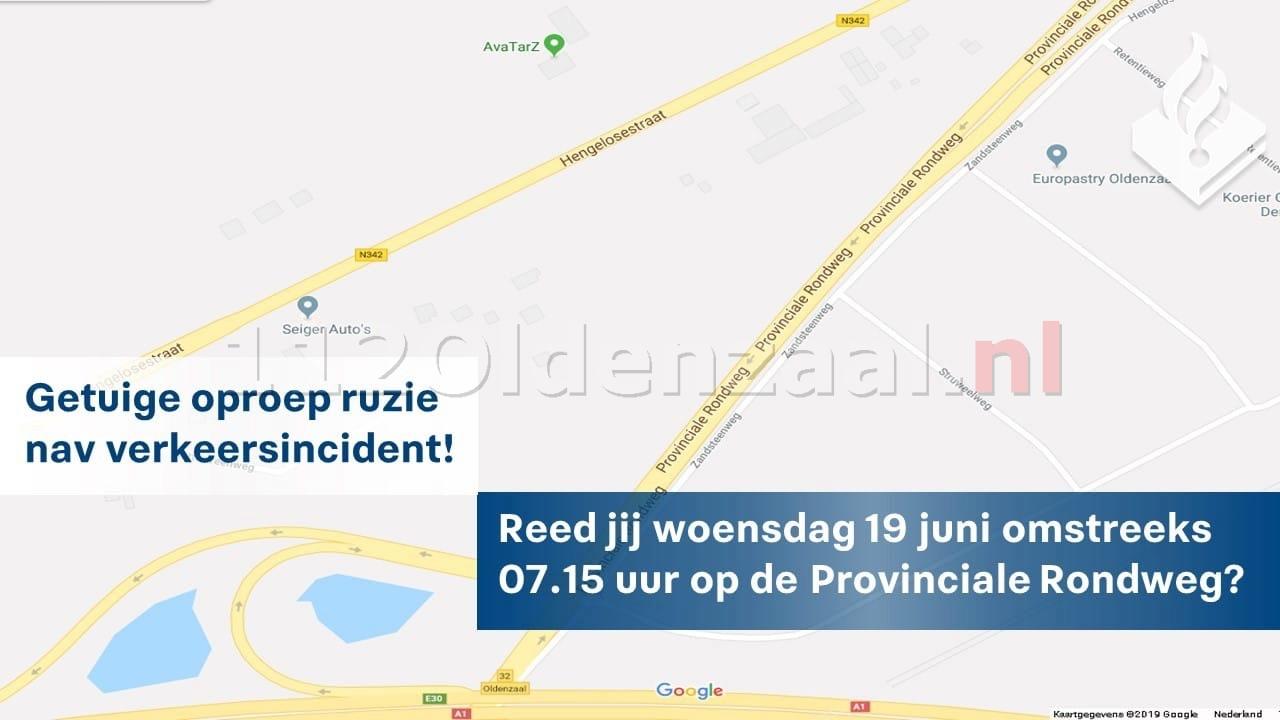 Politie zoekt getuigen van verkeersconflict in Oldenzaal; auto wordt gedwongen te stoppen en is vernield