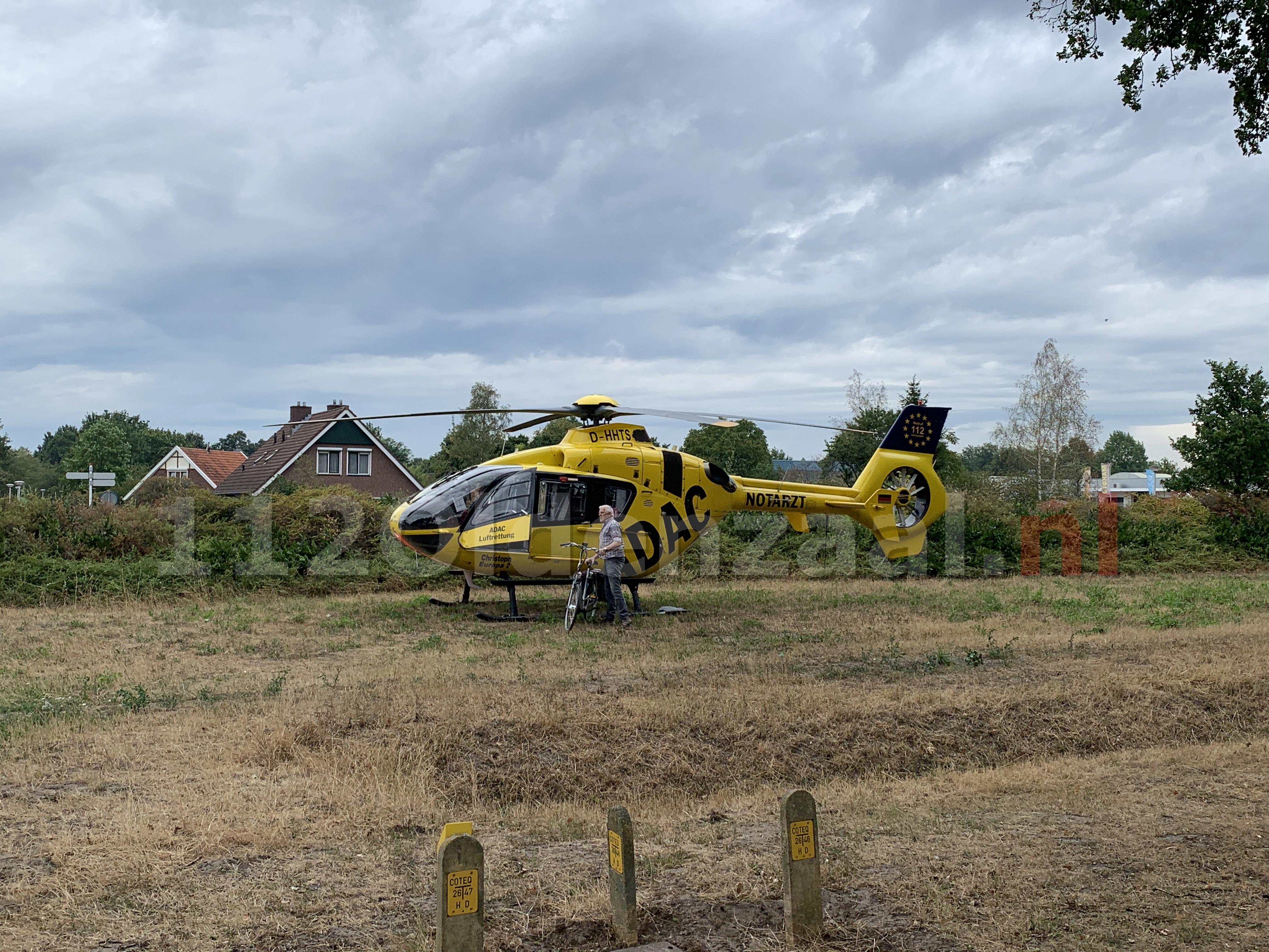 VIDEO: Traumahelikopter stijgt op na inzet in Oldenzaal