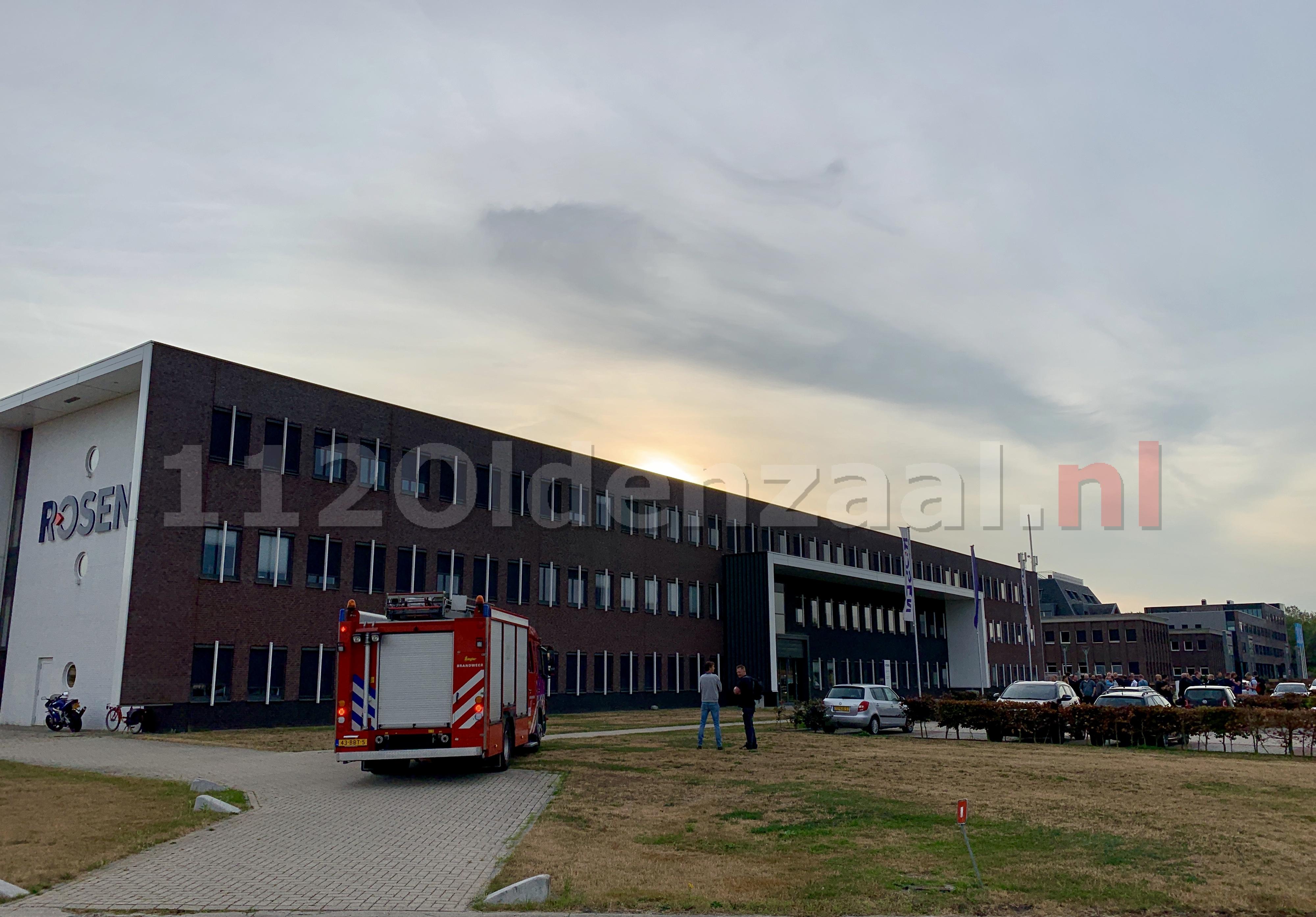 Brandweer rukt uit voor brandmelding bij bedrijf in Oldenzaal