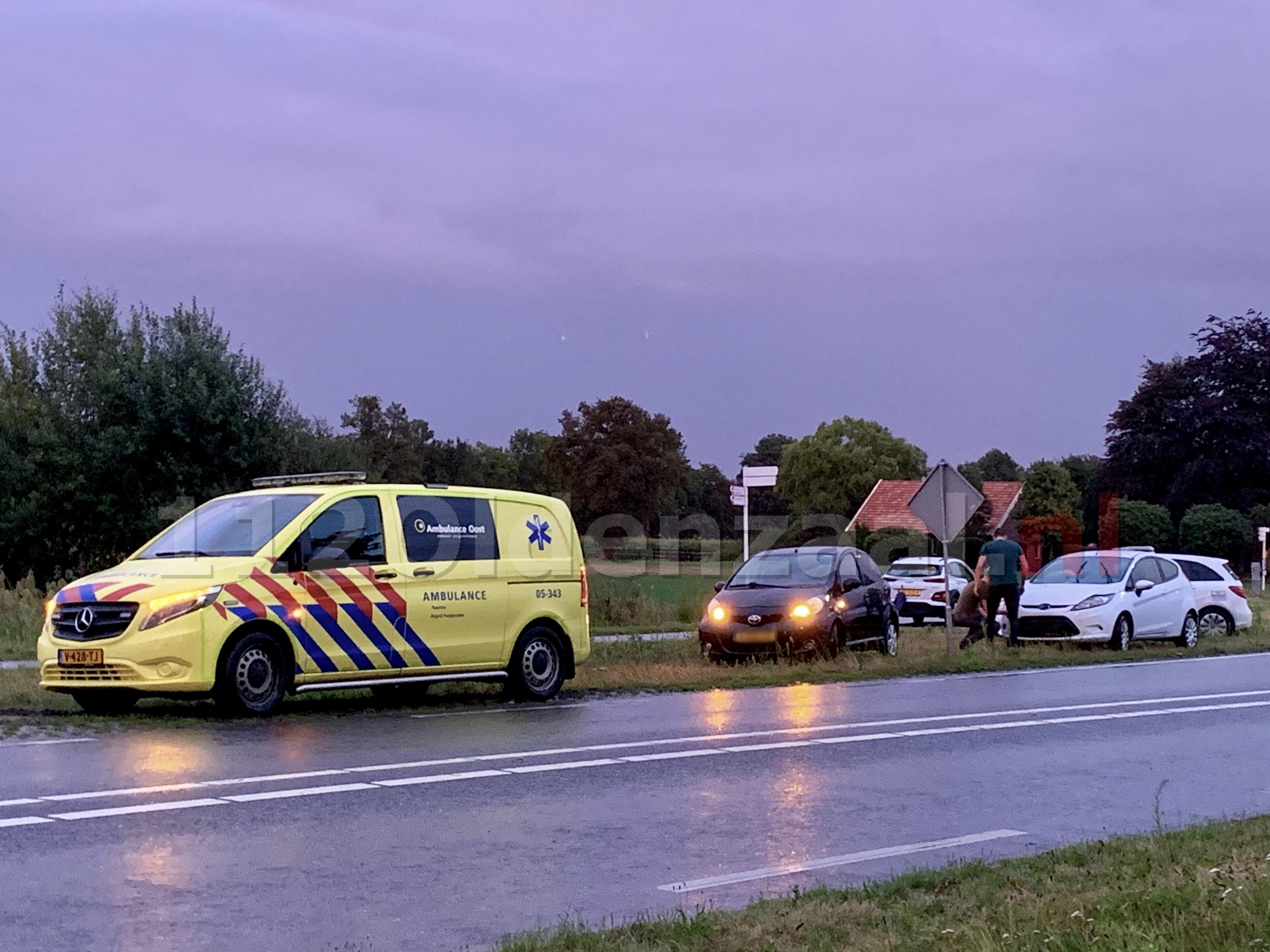 Kop-staartbotsing in Weerselo
