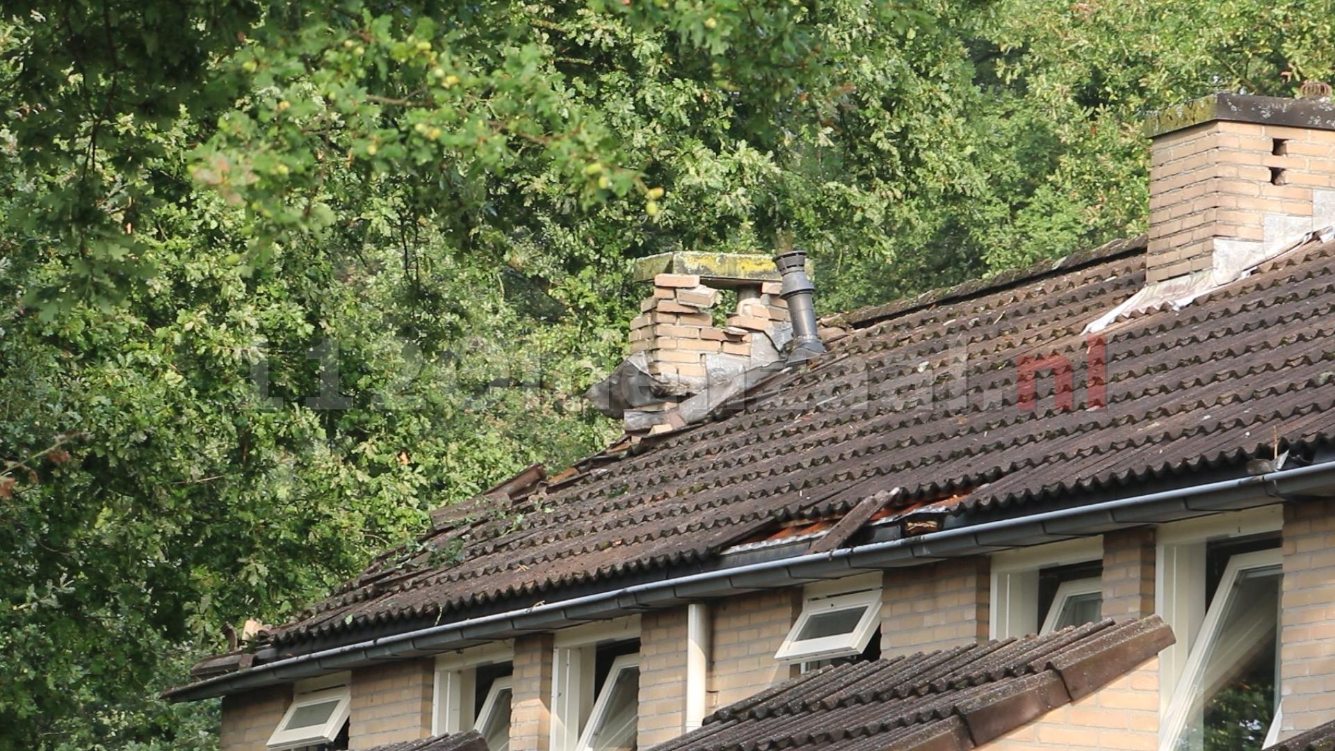 VIDEO: Meerdere woningen in De Lutte getroffen door blikseminslag