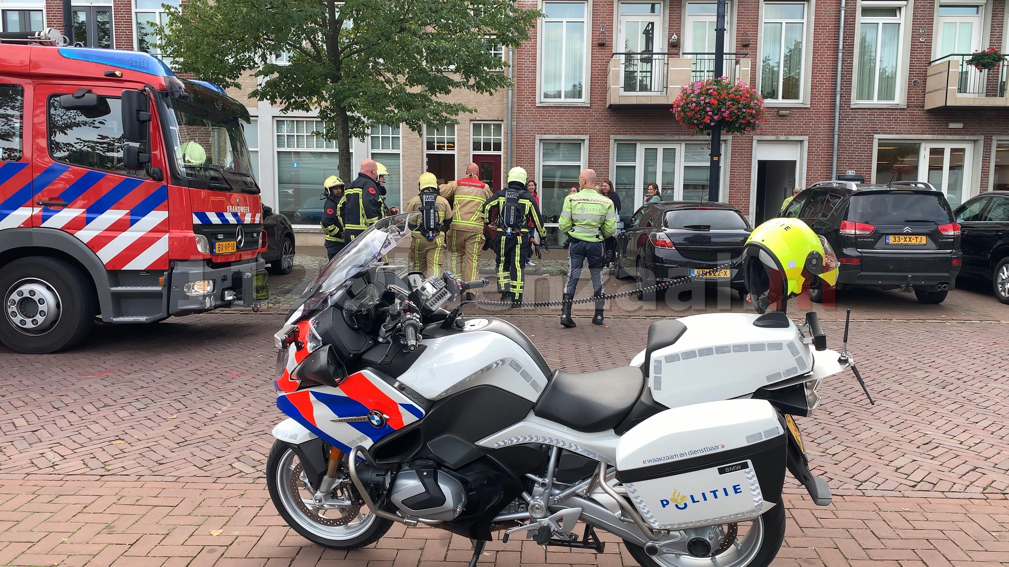 UPDATE: Brandweer rukt uit voor melding gaslucht op Ganzenmarkt in Oldenzaal