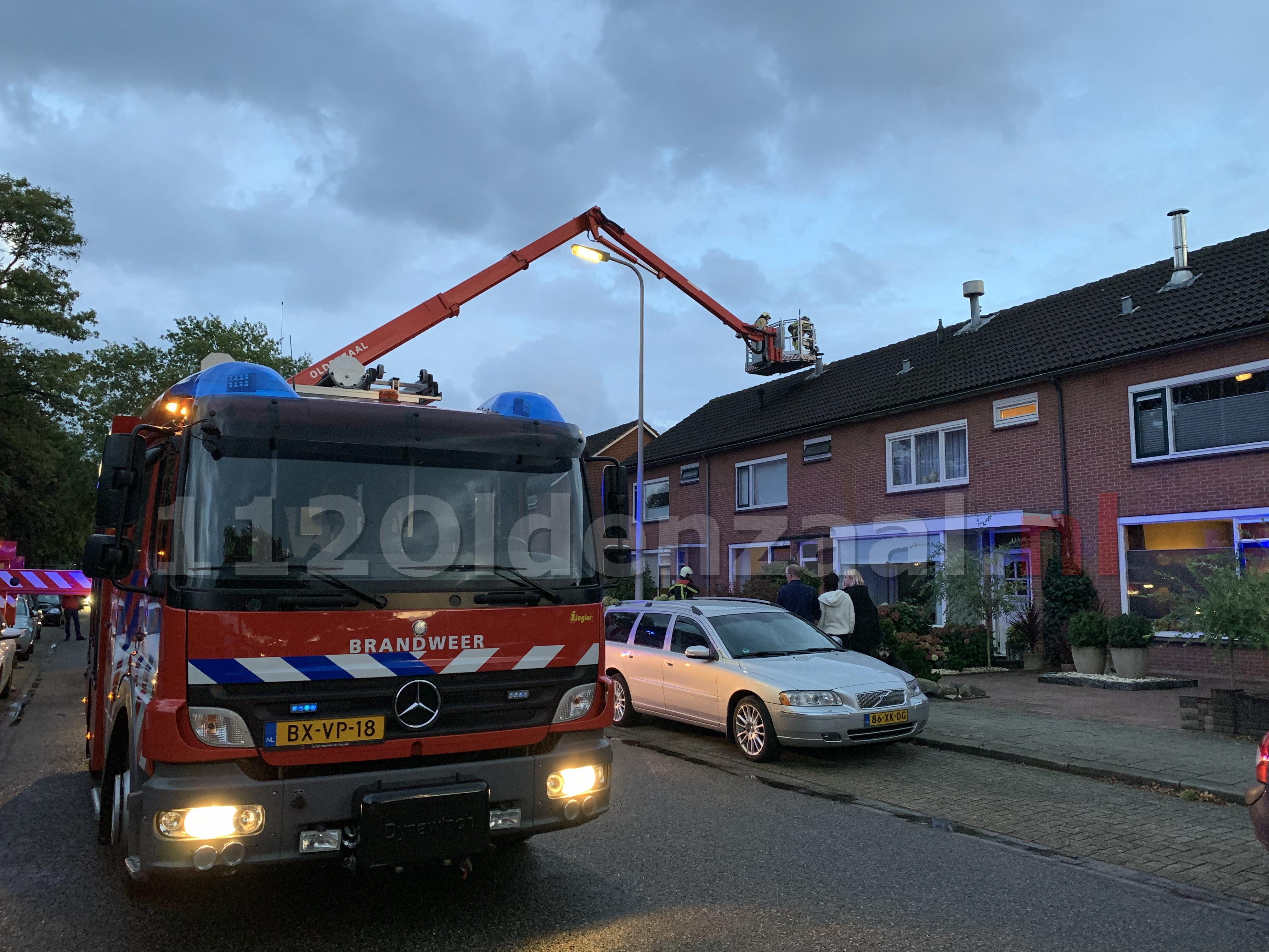 Brandweer rukt uit voor schoorsteenbrand Toon Borghuisstraat Oldenzaal