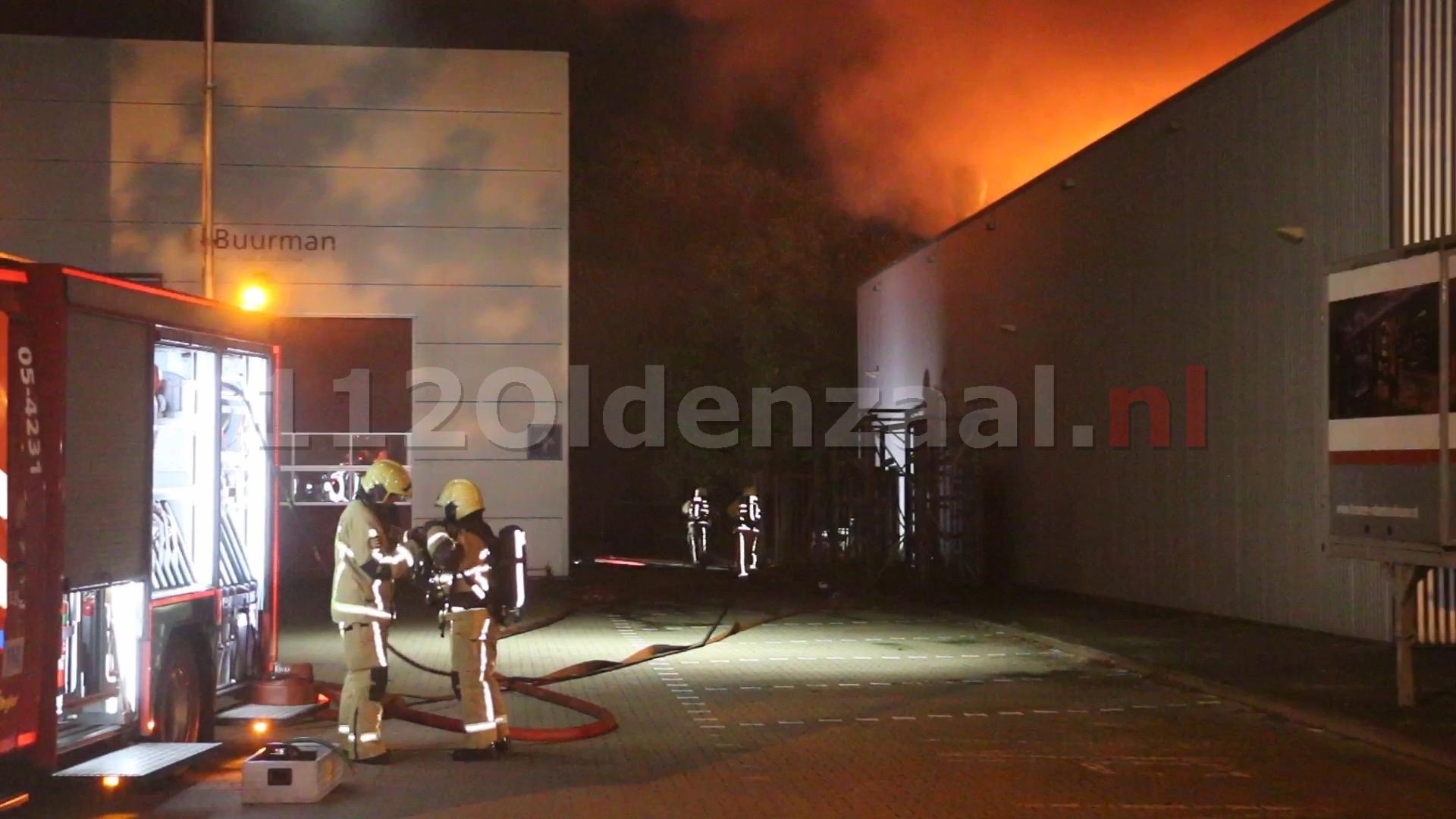 UPDATE: Zeer grote uitslaande brand bij Kroeze Interieur Oldenzaal; sein brand meester