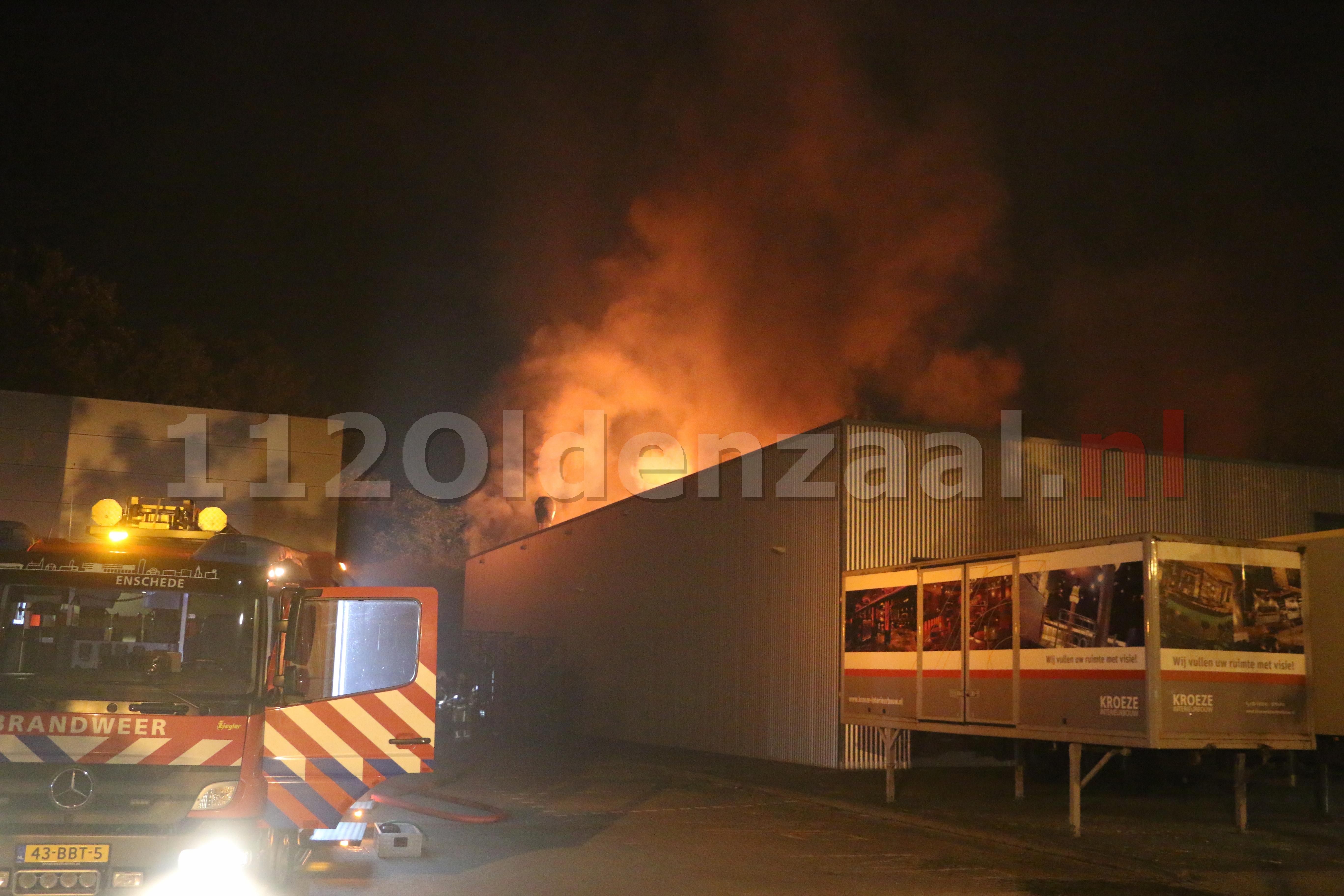 UPDATE: Grote uitslaande brand industrieterrein Oldenzaal