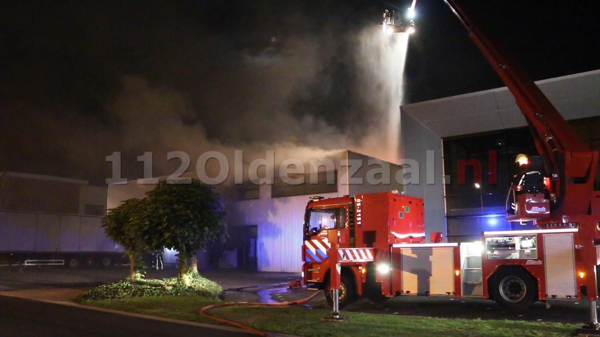 UPDATE (video): Zeer grote uitslaande brand bij Kroeze Interieur Oldenzaal; sein brand meester