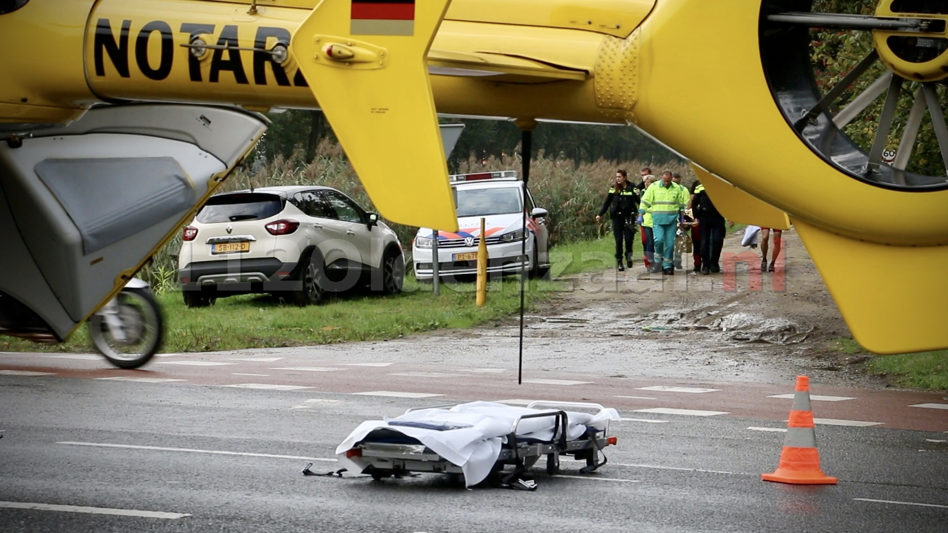 Mountainbiker gewond na val in Agelo; traumahelikopter ingezet