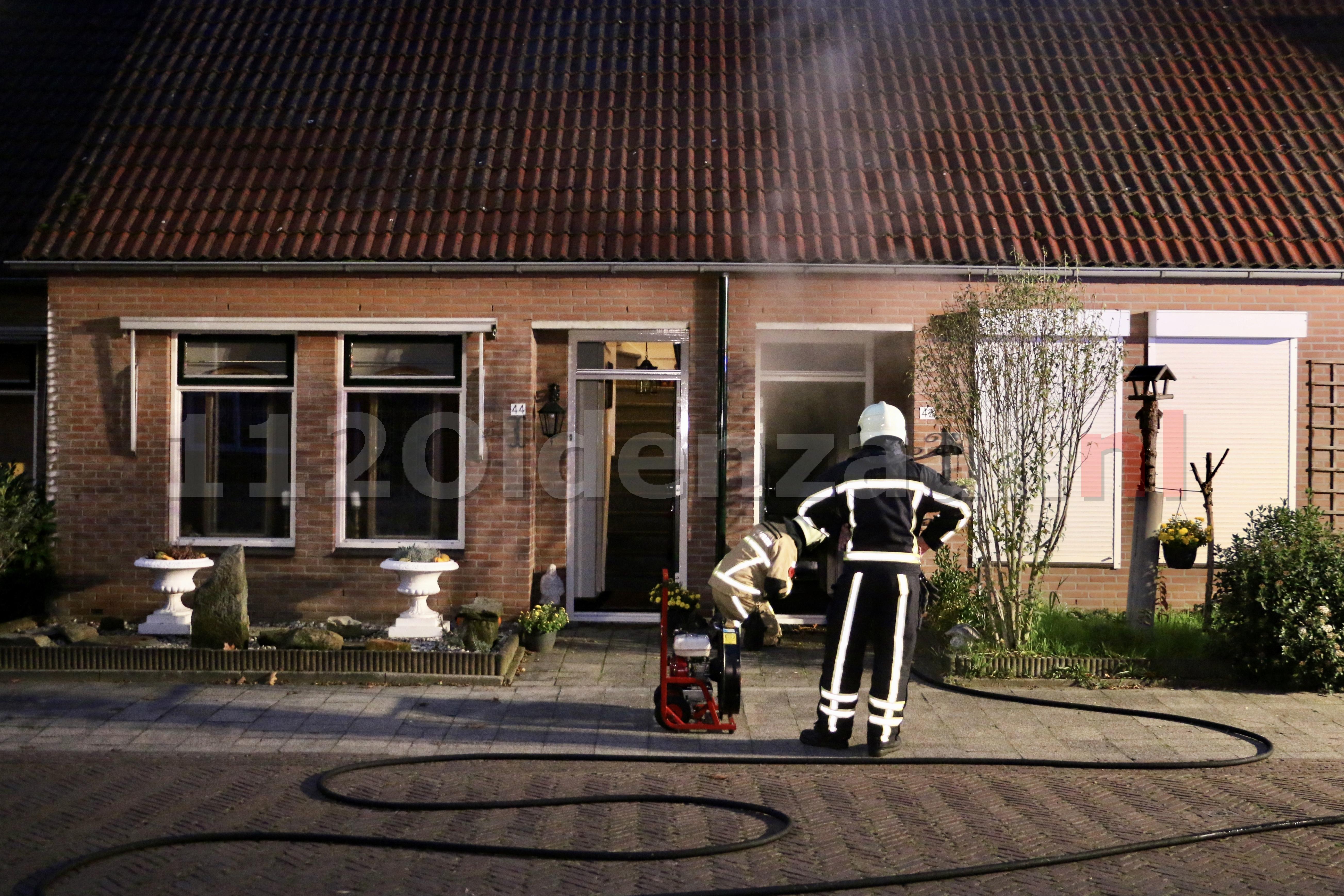 UPDATE (foto's): Forse schade bij woningbrand in Oldenzaal