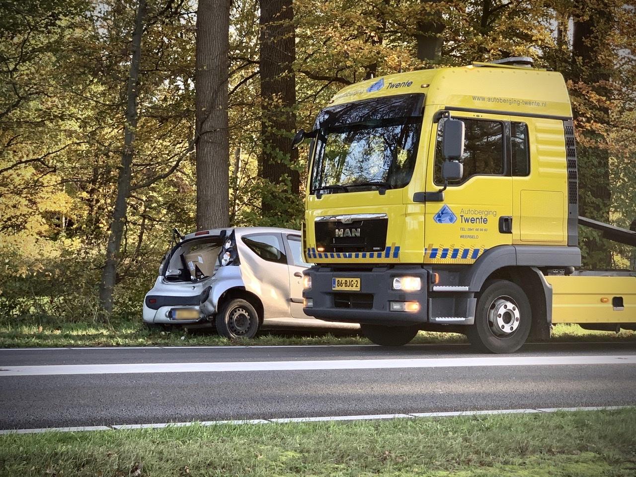 Flinke schade bij ongeval op Denekamperstraat N342