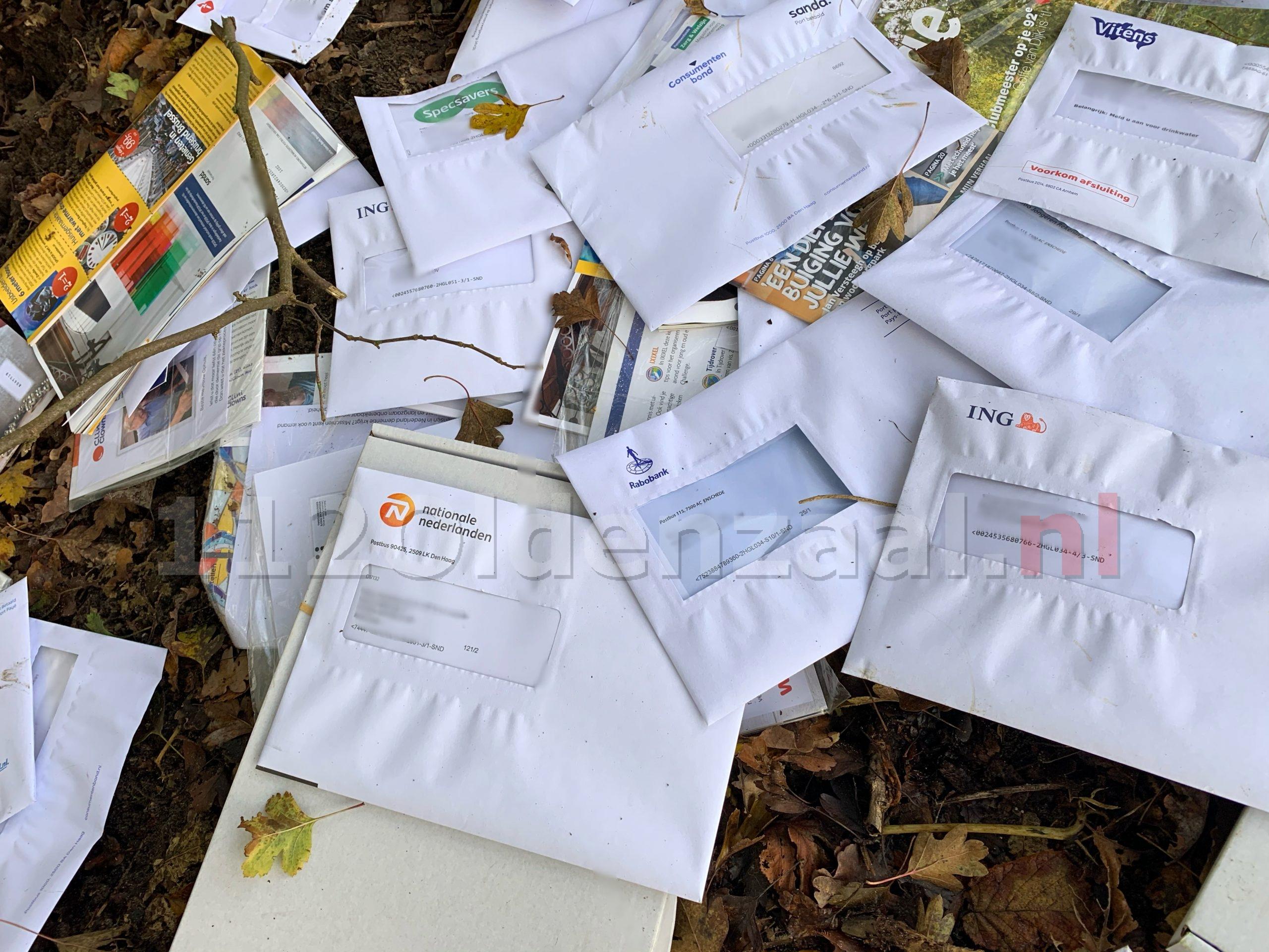 Grote hoeveelheid post gedumpt in Oldenzaal