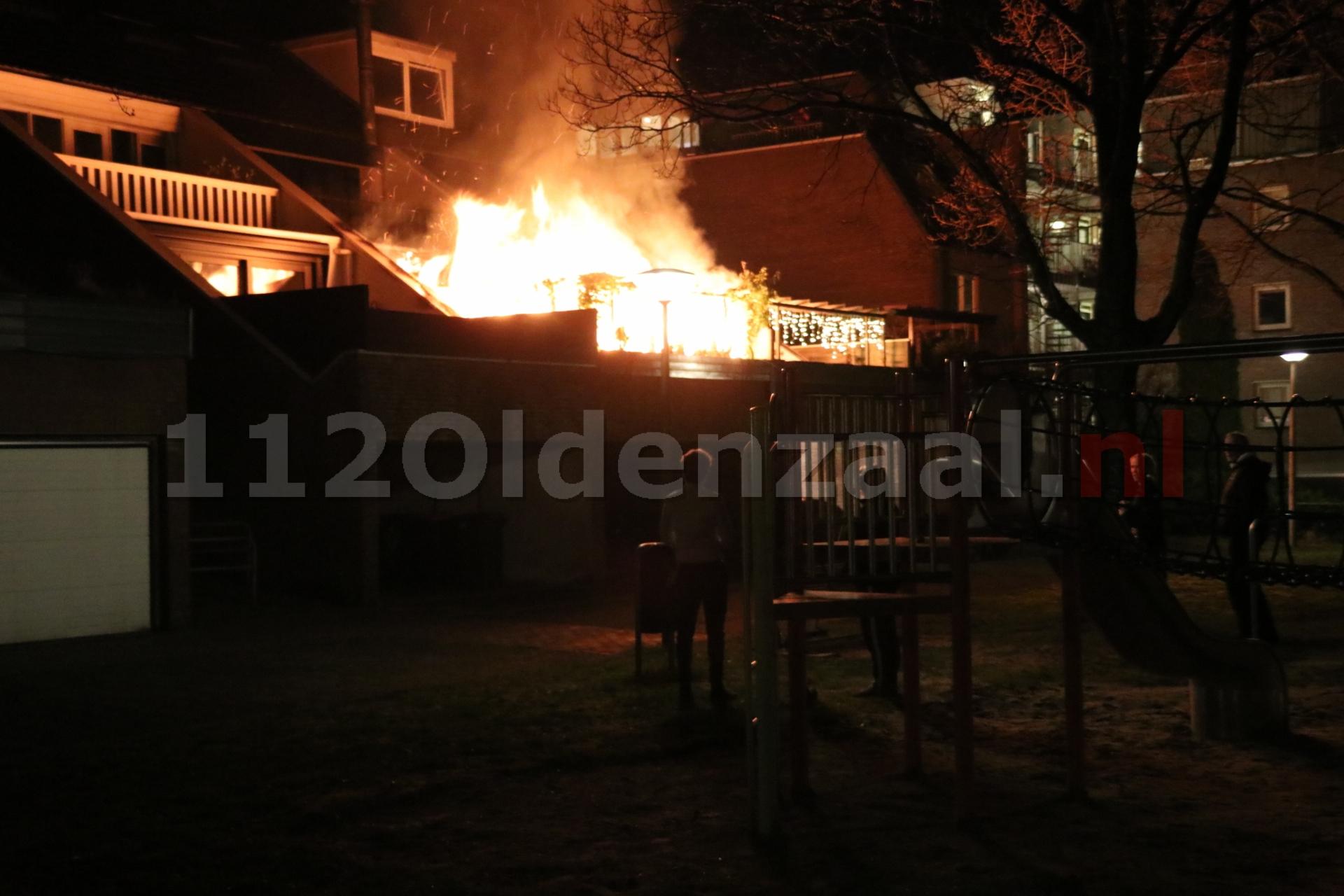 Uitslaande brand bij woning Oostwal Oldenzaal