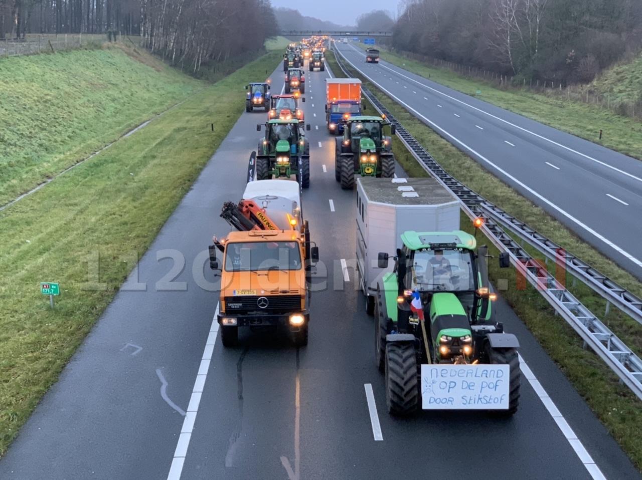 A1 tot Duitse grens volledig geblokkeerd door trekkers