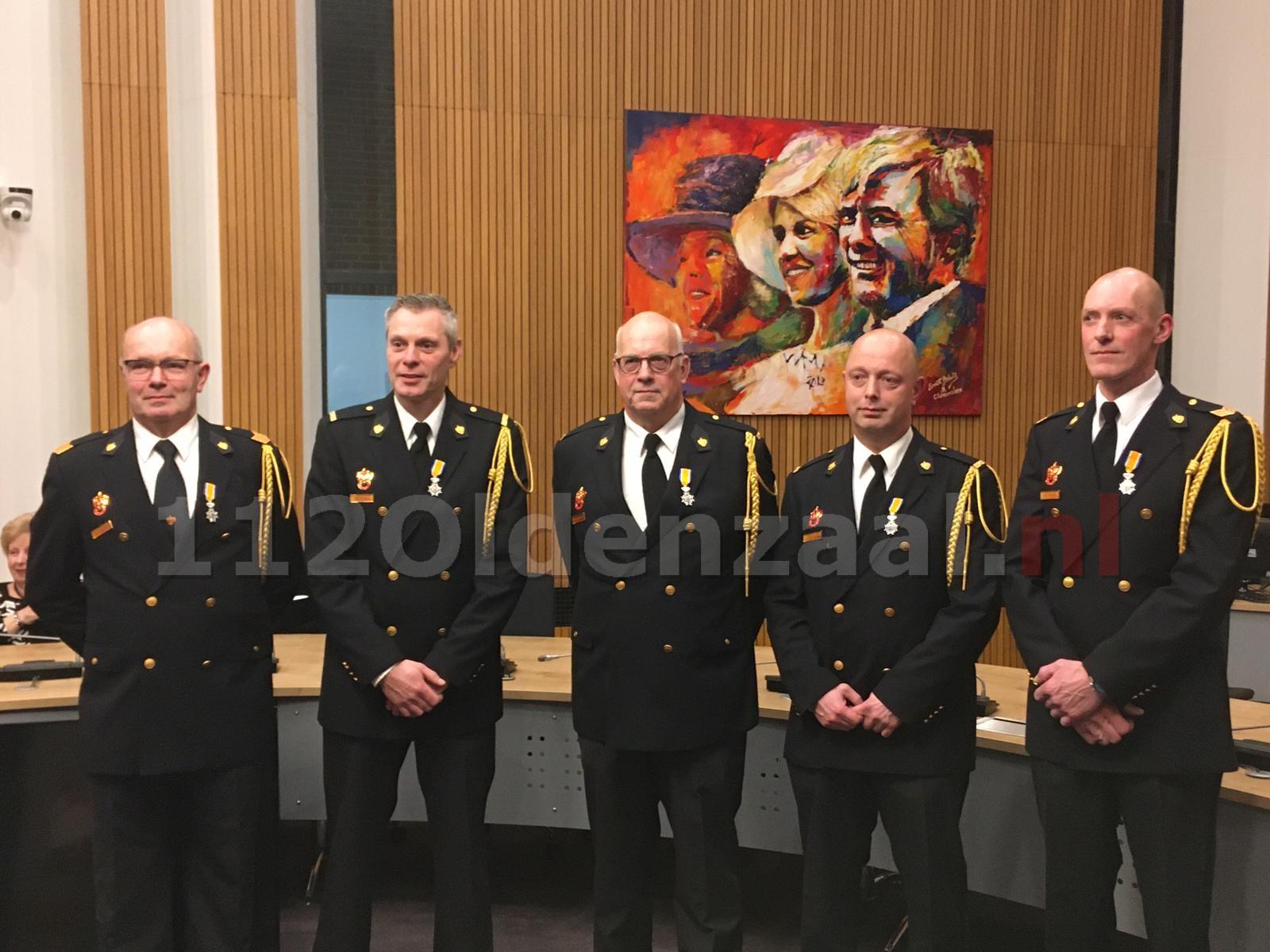 Koninklijke Onderscheiding vrijwilligers brandweer Oldenzaal