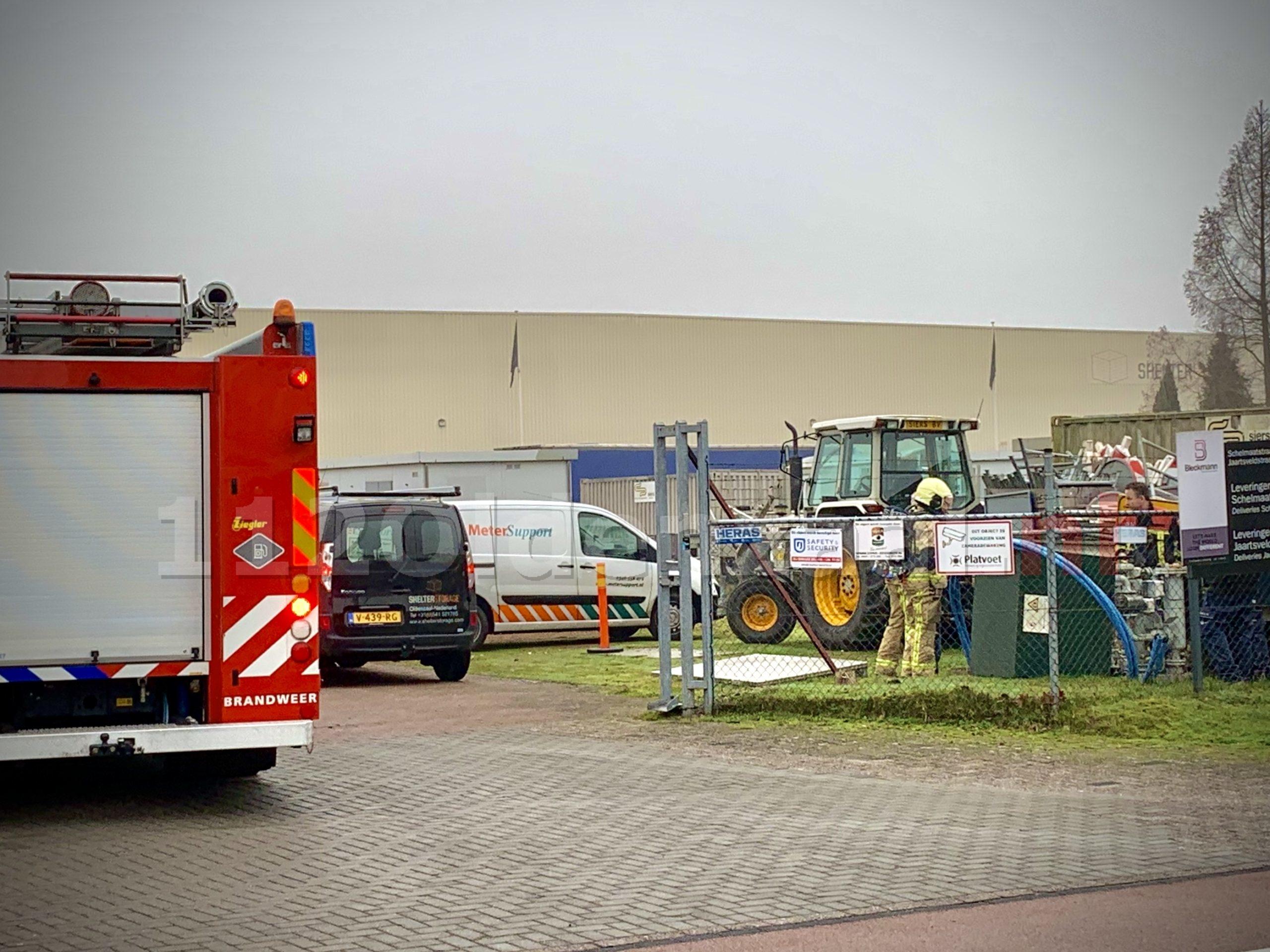 Brandweer rukt uit voor gaslekkage in Oldenzaal