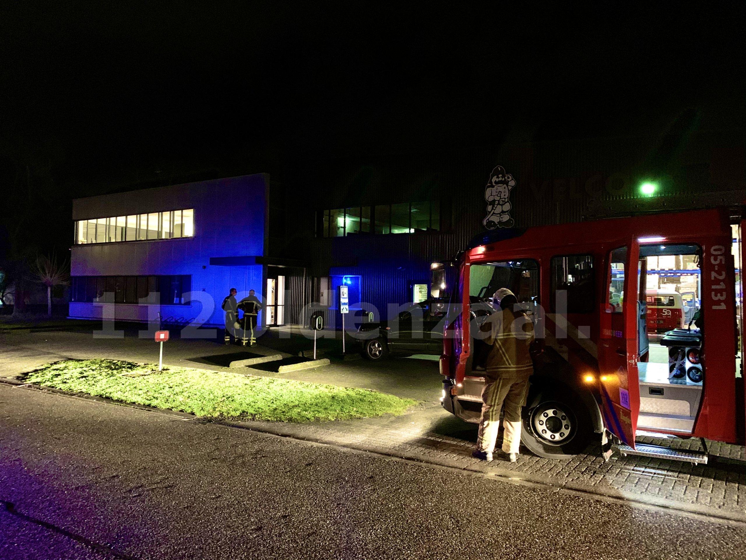 Brandweer rukt massaal uit voor melding Industriebrand bij Velco Brandveiligheid in Oldenzaal