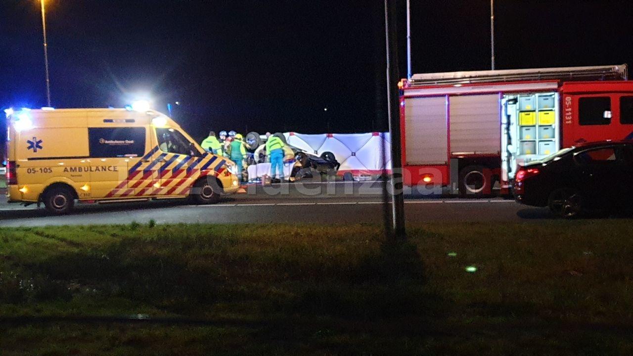 Zeer ernstig ongeval op de A1 bij Hengelo: GRIP 1, traumahelikopter opgeroepen