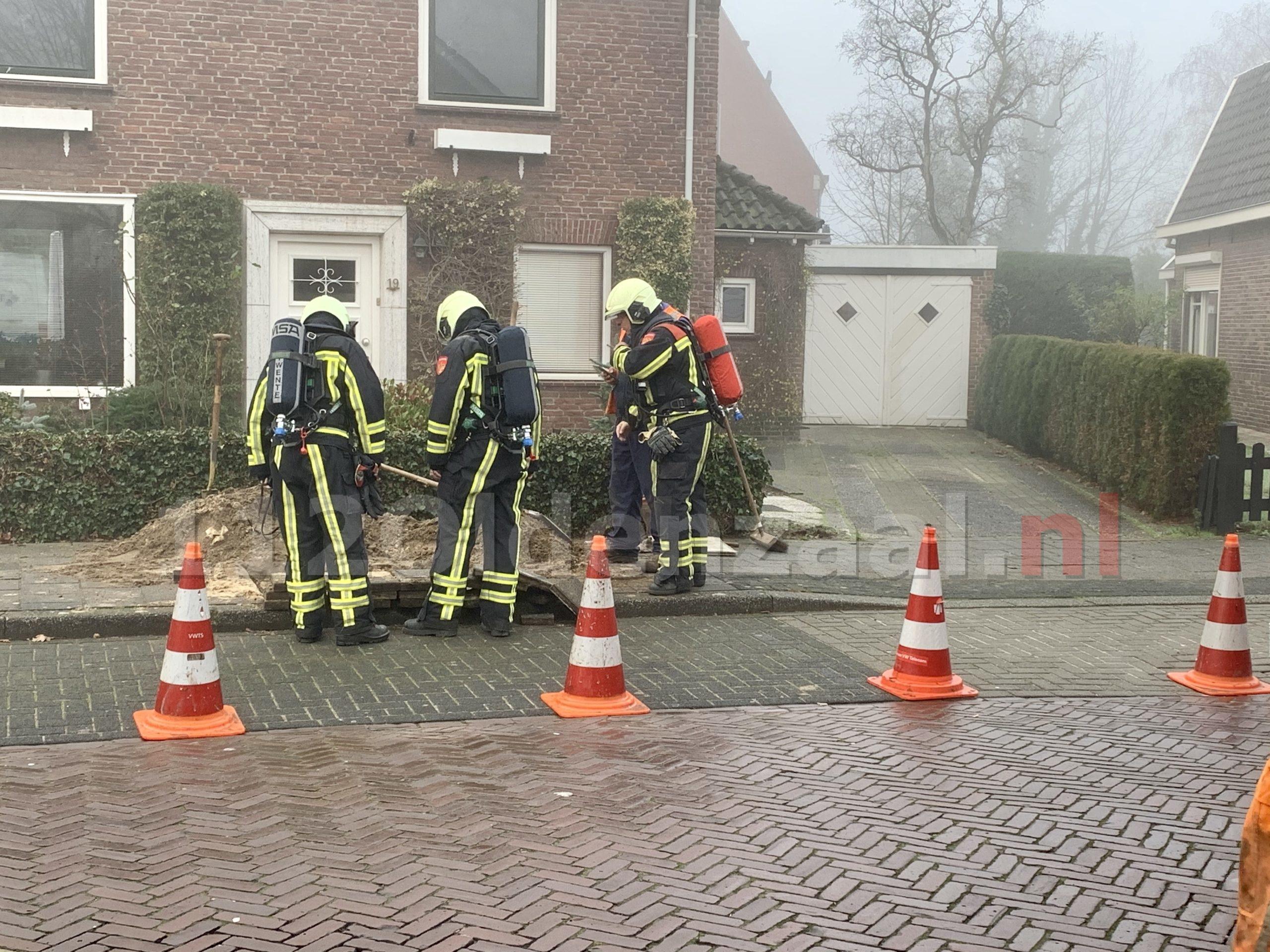 Brandweer rukt uit voor gaslek in Oldenzaal