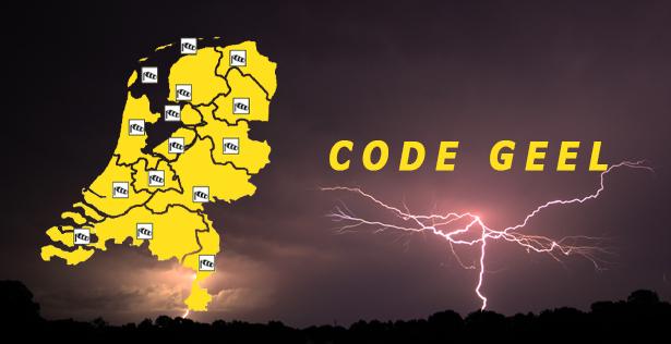 KNMI waarschuwt met code geel voor onweersbuien, hagel, veel neerslag en windstoten