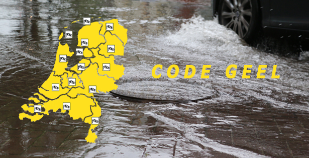 Code geel: KNMI waarschuwt voor onweersbuien met veel neerslag