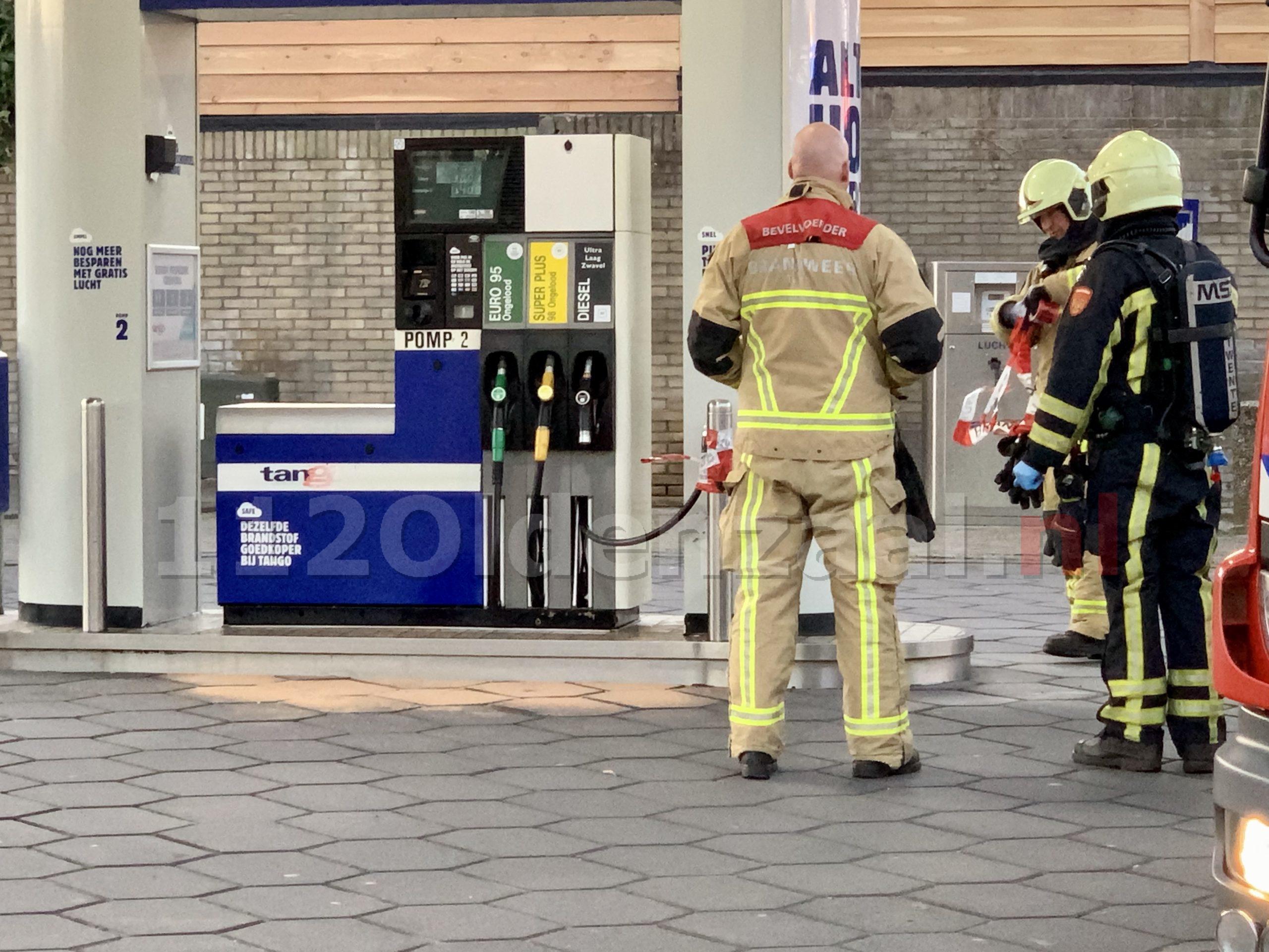 Brandweer rukt uit voor kapotte vulslang bij tankstation in Oldenzaal