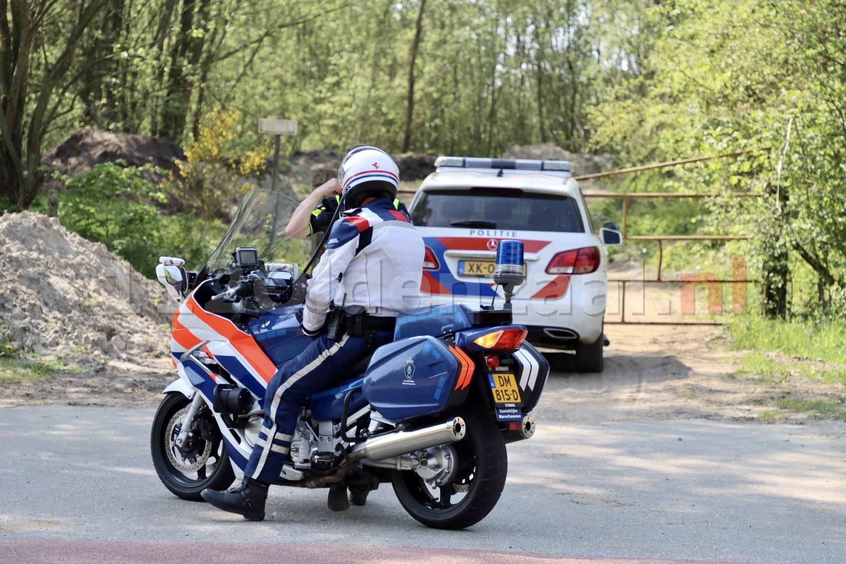 Foto's: Klopjacht bij grens Duitsland eindigt in aanhoudingen