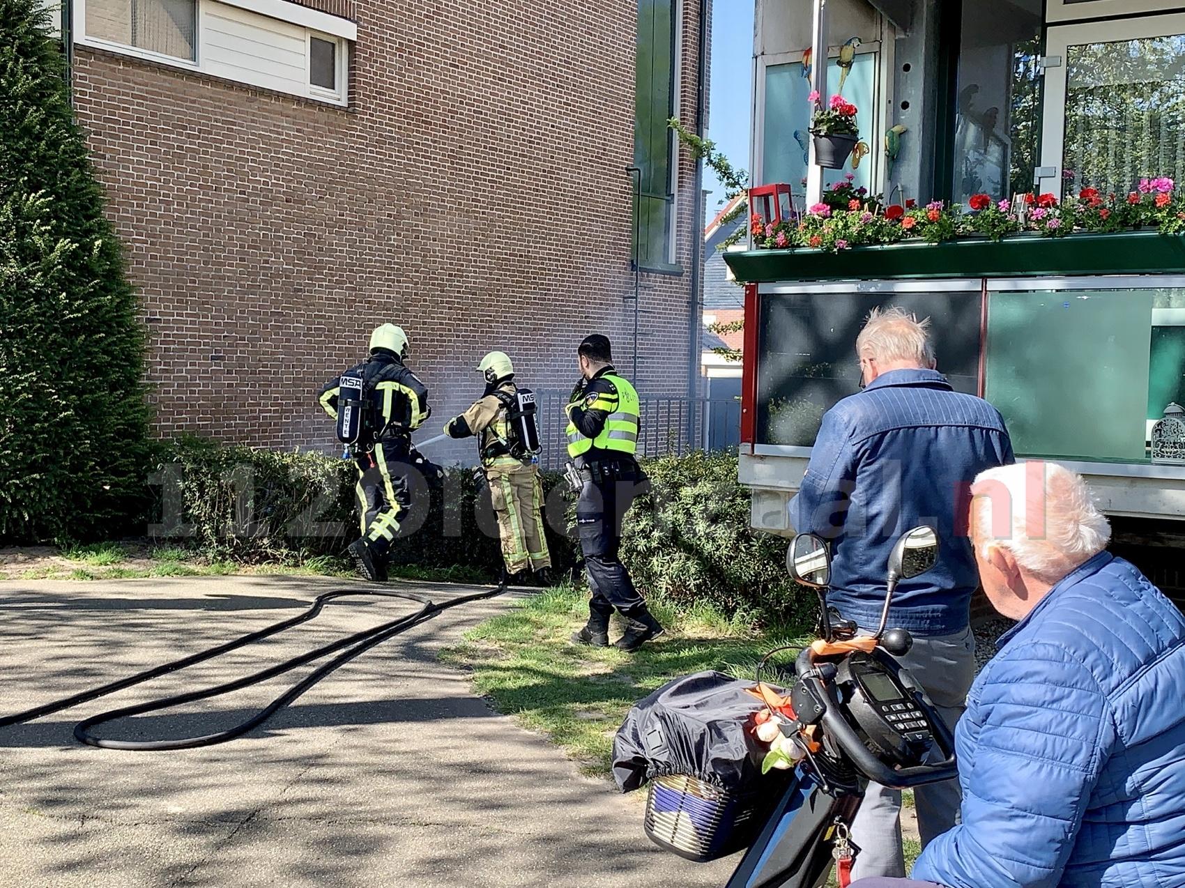 Brandweer rukt uit voor buitenbrand centrum Oldenzaal