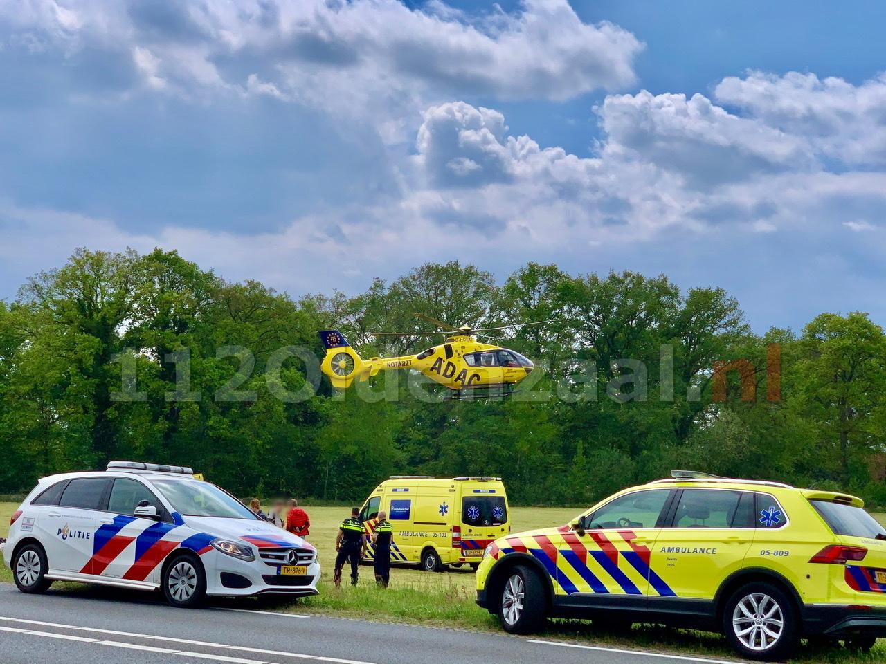 Video: Ernstig ongeval tussen Weerselo en Fleringen; traumahelikopter ingezet