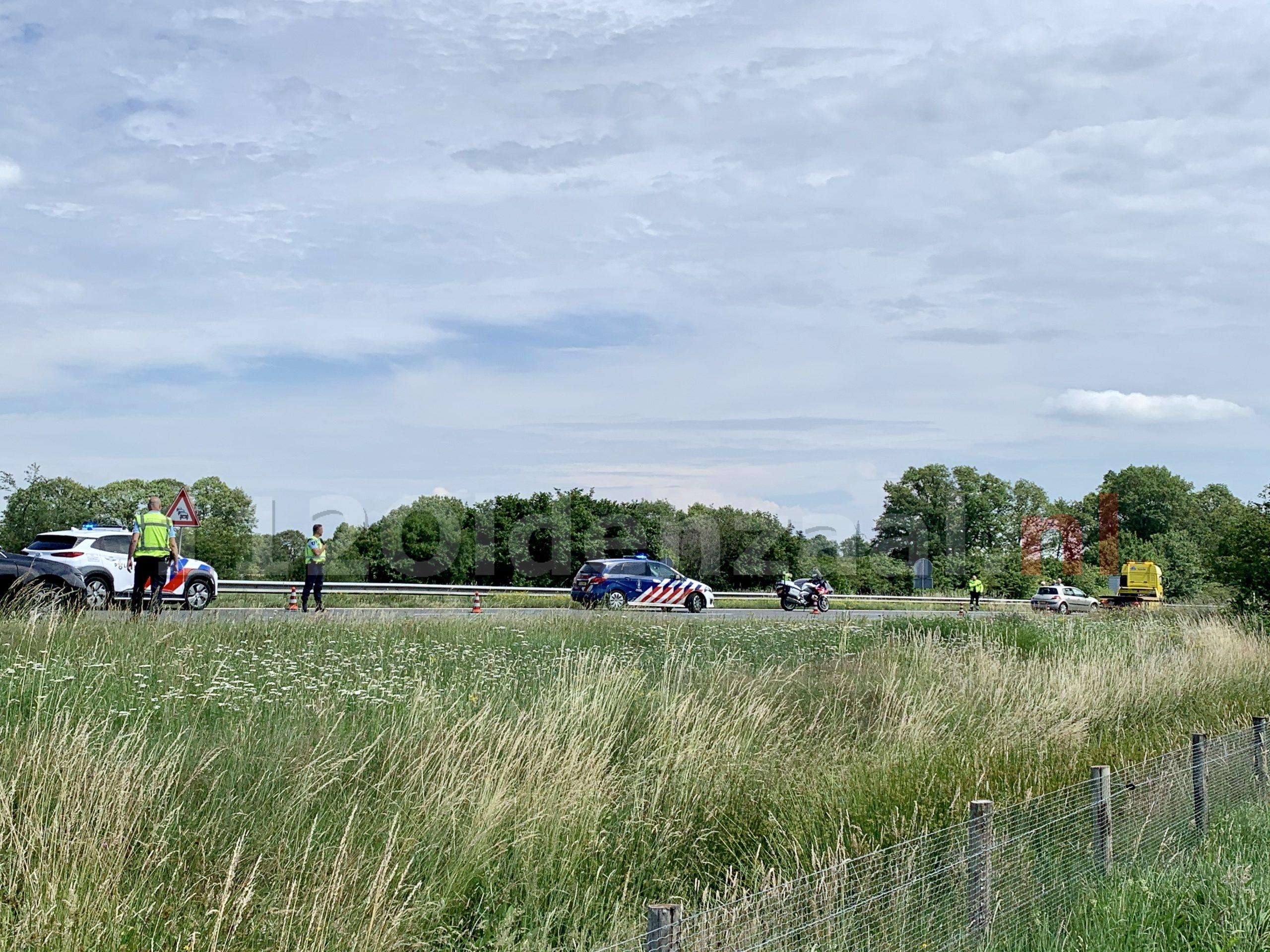 Ongeval veroorzaakte vertraging op A1 tussen Hengelo en Oldenzaal