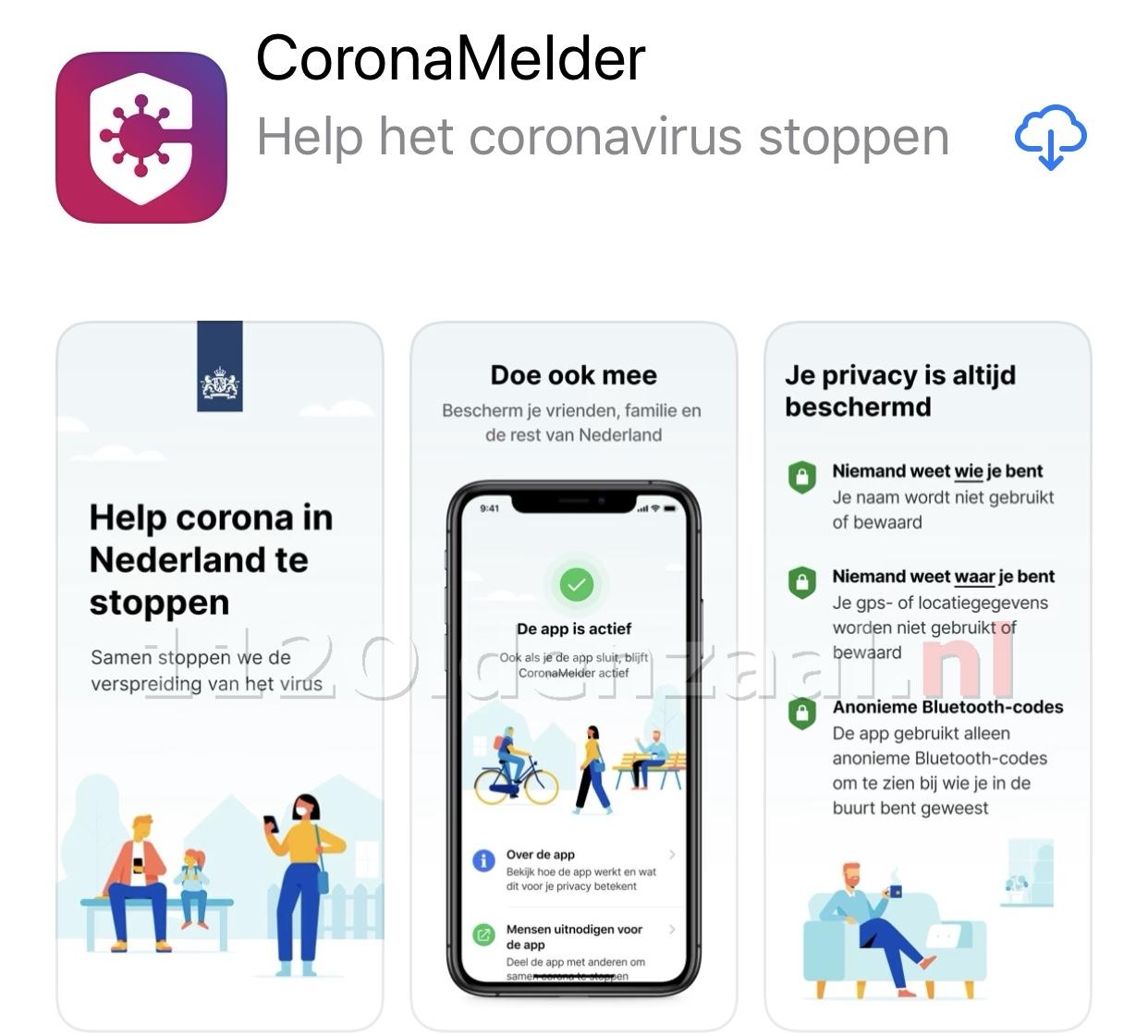 Corona-app vanaf nu te downloaden