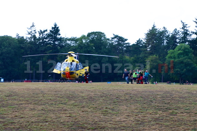 Update: Persoon op het Hulsbeek gewond na ongeval: traumahelikopter ingezet