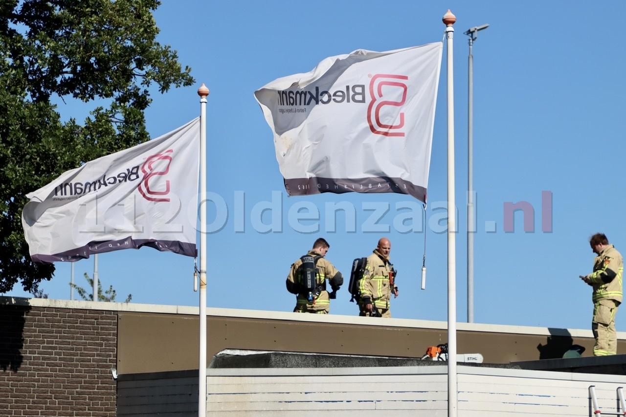 Brandweer rukt massaal uit voor brandmelding bij bedrijf in Oldenzaal