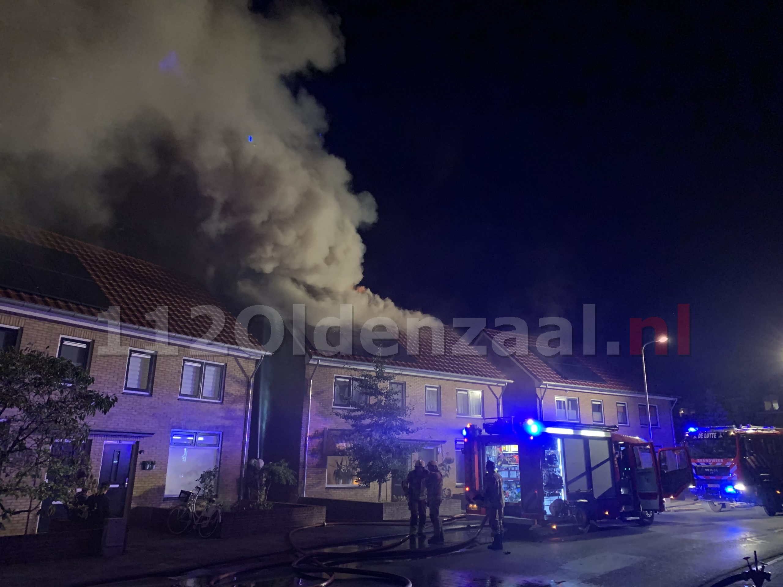 UPDATE: Uitslaande woningbrand Oldenzaal