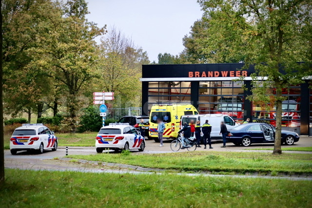 Hulpdiensten rukken uit voor ongeval Ossenmaatstraat Oldenzaal