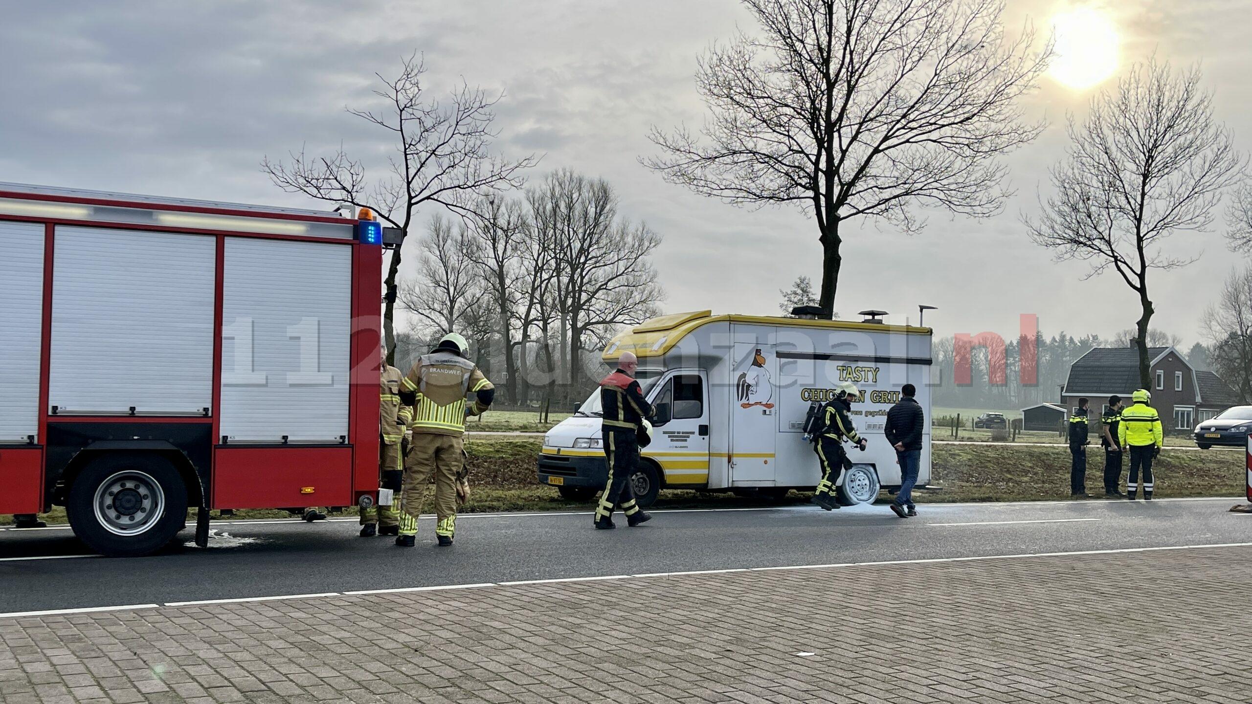 Brandweer rukt uit voor melding autobrand Enschedesestraat Oldenzaal
