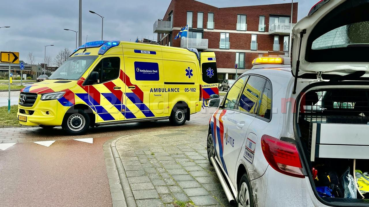 Vrouw gewond naar het ziekenhuis na val