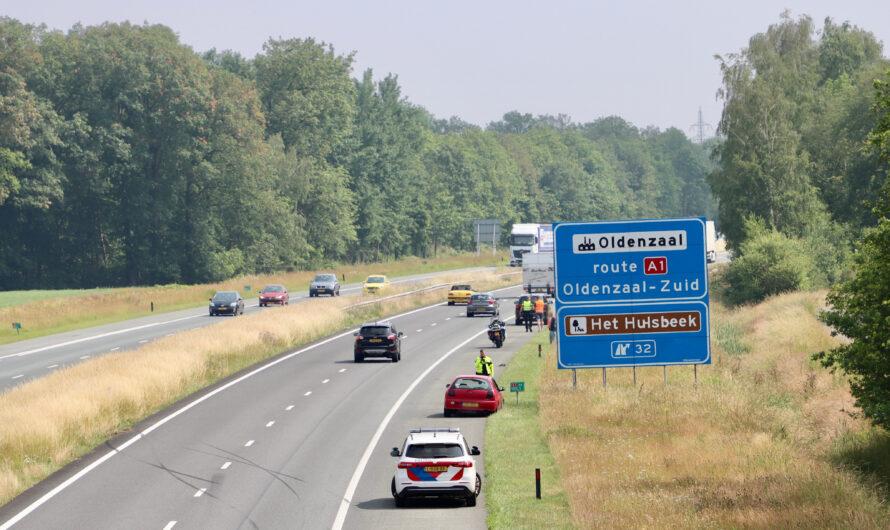 Ongeval op A1 tussen Hengelo en Oldenzaal